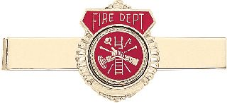 FIRE DEPT EMBL TIE CLASP-Blackinton Insignia and Recognition