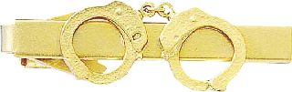 HAND CUFFS TIE CLASP-Blackinton Insignia and Recognition