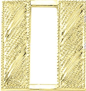 LG. Captain Bars-Embossed-Blackinton Insignia and Recognition