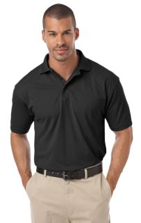 MENS IL-50 POLO NO POCKET - BLACK 2 EXTRA LARGE SOLID-Blue Generation