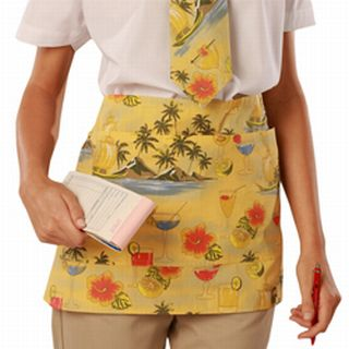 Cocktail Print Waist Apron