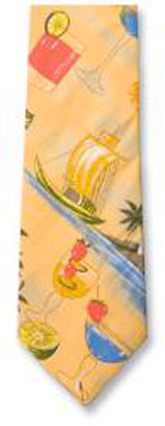 Cocktail Print Tropical Ties