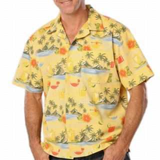 Unisex Tropical Print Campshirt-