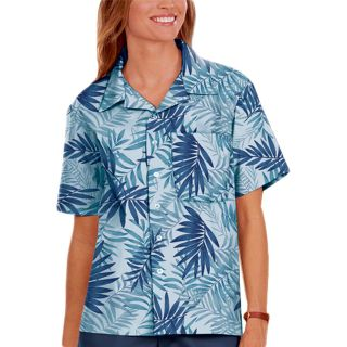 UNISEX SHORT SLEEVE TONAL CAMPSHIRT 65/35 POLY/ COTTON - BLUE 2 EXTRA LARGE PRINT-Blue Generation
