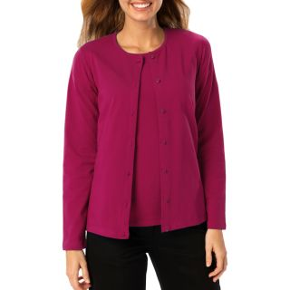 LADIES LONG SLEEVE CARDIGAN - BERRY 2 EXTRA LARGE SOLID-Blue Generation