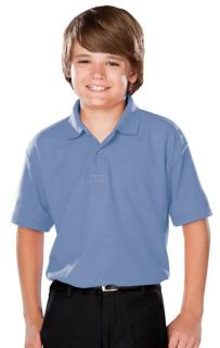 Youth Value Moisture Wicking S/S Polo-Blue Generation