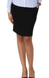 Ladies Pull On Skirt Black Solid-Blue Generation