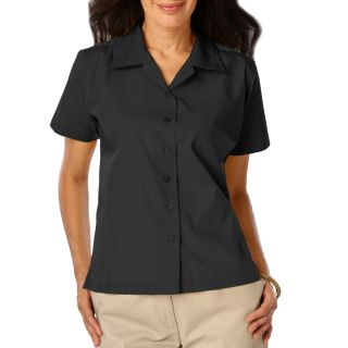 Ladies Solid Poplin Camp Shirt-Blue Generation