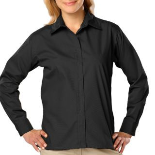Ladies L/S Light Weight Poplin Shirt-Blue Generation