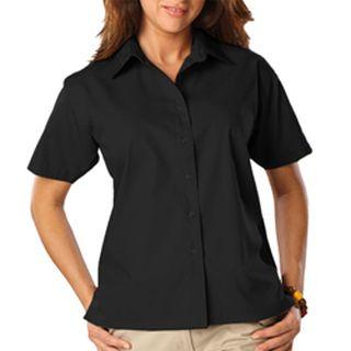 Ladies S/S Value Poplin Shirt-Blue Generation