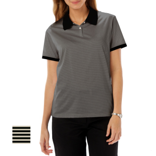 Ladie's Shadow Stripe 65/35 Blended Polo