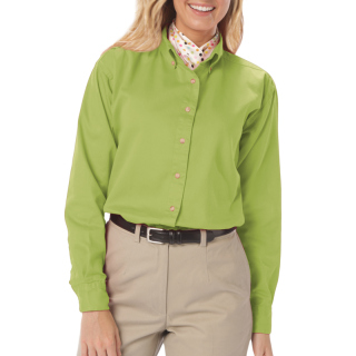 Ladies L/S 100% Cotton Twill Shirt