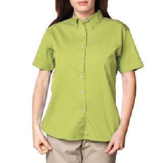 Ladies Short Sleeve 100% Cotton Twill