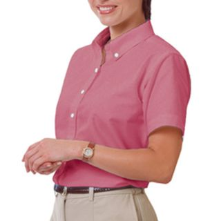 LADIES LONG SLEEVE OXFORD - BURGUNDY 2 EXTRA LARGE SOLID-