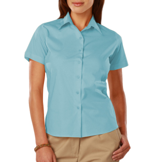 Ladies Easy Care Stretch Ss Poplin