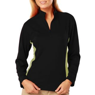 Ladies Wicking L/S Zip Pullover