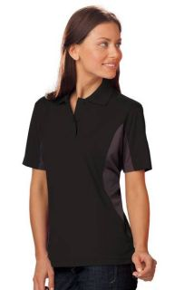 LADIES COLOR BLOCK WICKING - BLACK 2 EXTRA LARGE TRIM GRAPHITE-Blue Generation