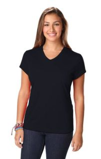 LADIES SOLID WICKING T - BLACK 2 EXTRA LARGE SOLID-Blue Generation
