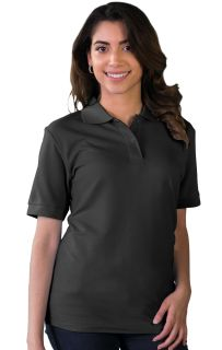 LADIES S/S VALUE PIQUE POLO - BLACK 2 EXTRA LARGE SOLID-Blue Generation