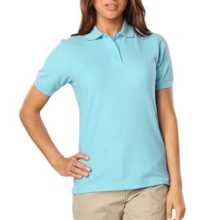 LADIES VALUE SOFT TOUCH PIQUE POLO - AQUA 2 EXTRA LARGE SOLID-Blue Generation