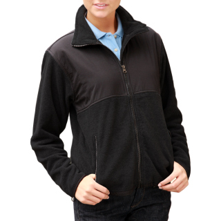 Ladies Colorblock Micro Fleece Jacket