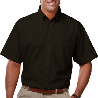 MENS S/S LIGHT WEIGHT POPLIN SHIRT - BLACK 2 EXTRA LARGE SOLID-