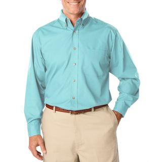 Mens L/S Superblend Poplin Shirt with Bone Buttons