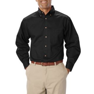 MENS LONG SLEEVE TEFLON TWILL - BLACK 2 EXTRA LARGE SOLID-Blue Generation