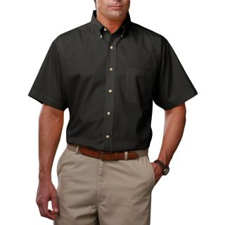 MENS SHORT SLEEVE TEFLON TWILL - BLACK 2 EXTRA LARGE SOLID-Blue Generation