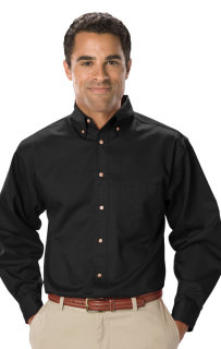 Mens Tall Teflon® Twill L/S Shirt-Blue Generation