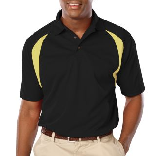 MENS WICKING CONTRAST INSERT - BLACK- VEGAS GOLD 2 EXTRA LARGE TRIM VEGAS GOLD-