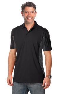 MENS COLOR BLOCK WICKING - BLACK 2 EXTRA LARGE TRIM GRAPHITE-Blue Generation
