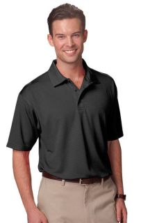ADULT MOISTURE WICKING S/S TONAL STRIPE - BLACK 2 EXTRA LARGE SOLID-Blue Generation