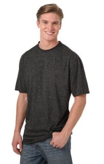 MENS HEATHERED WICKING TEE - HEATHER BLACK 2 EXTRA LARGE SOLID-Blue Generation