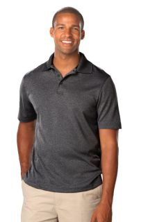 MENS HEATHERED WICKING POLO - HEATHER BLACK 2 EXTRA LARGE SOLID-