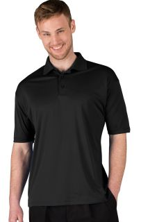 MENS ULTRA LUX POLO - BLACK 2 EXTRA LARGE SOLID-Blue Generation