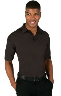 MENS NAILHEAD S/S POLO - BLACK 2 EXTRA LARGE TRIM DARK GREY-