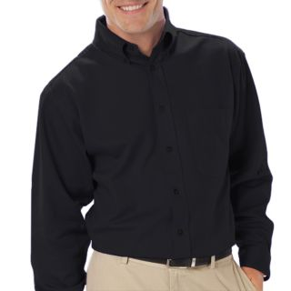 Mens Long Sleeve Easy Care Poplin With Matching Buttons-