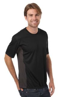 MENS COLORBLOCK WICKING TEE - BLACK 2 EXTRA LARGE SOLID-Blue Generation