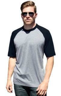 Adult Color Block Wicking Tee