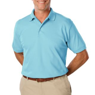 MENS VALUE SOFT TOUCH PIQUE POLO - AQUA 2 EXTRA LARGE SOLID-