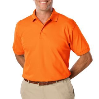 MENS HIGH VISIBILITY PIQUE POLO SOLID - ORANGE 2 EXTRA LARGE SOLID-Blue Generation