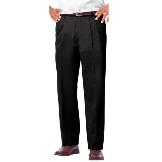 MENS PLEATED FRONT TEFLON TREATED TWILL PANTS - BLACK LENGTH 30 WAIST 28-Blue Generation