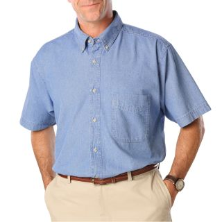 MENS SHORT SLEEVE PREMIUM DENIM - FADED BLUE 2 EXTRA LARGE SOLID-