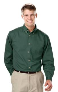 Mens Long Sleeve Tall 100% Cotton Twill Ws