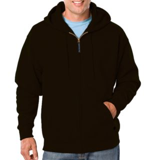 ADULT FLEECE ZIP FRONT HOODIE - BLACK 2 EXTRA LARGE SOLID-