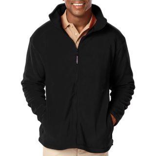 MENS POLAR FLEECE JACKET - BLACK 2 EXTRA LARGE SOLID-