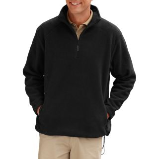 ADULT POLAR FLEECE L/S 1/2 ZIP PULLOVER - BLACK 2 EXTRA LARGE SOLID-