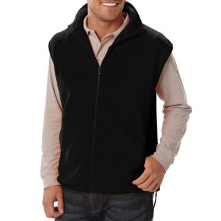 Mens Micro Fleece Zip Front Vests-