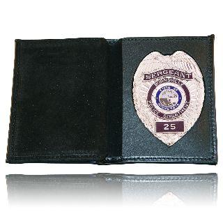 Book Style Wallet w/ Vertical Credit Card Slots & Id Window-